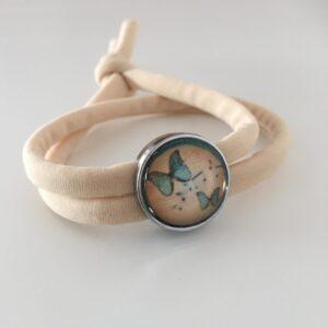Armbandje met schuiver | Vlindertjes