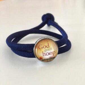 Armbandje met schuiver | God geeft hoop