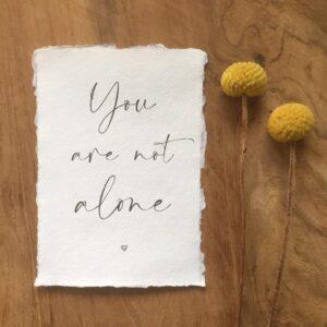 Kaartje van Katoen | You are not alone