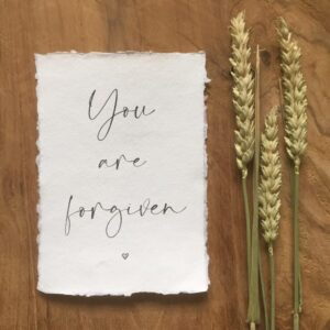 Kaartje van Katoen | You are forgiven