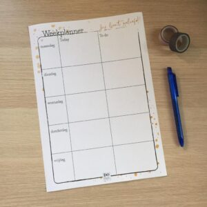 Gratis Printable | Weekplanner