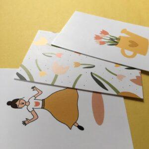 kaartje van Anna - collage
