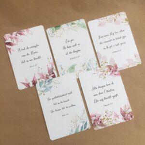 kaartenset floral
